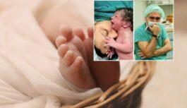 Māte, pēc bērna piedzimšanas, pēdējo reizi paņem rokās bērnu, noskūpsta un apskauj viņu